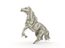 Dollar horse. Symbolizing the power of money Stock Photo