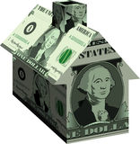 Dollar_house Stock Photo