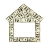 Dollar house Royalty Free Stock Photo