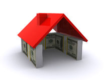 Dollar House Royalty Free Stock Photography