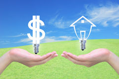 Dollar and house Royalty Free Stock Photos