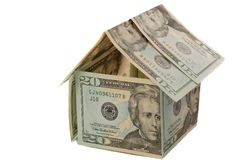 Dollar house. Home for rent or sale Stock Image