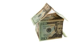 Dollar house Stock Photography