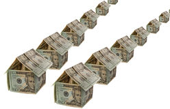Dollar house Royalty Free Stock Photo