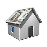 Dollar house, 3d Stock Image