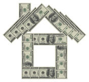 Dollar house. On a white background Royalty Free Stock Images