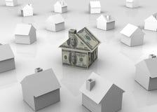 Dollar house Stock Image