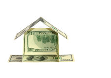 Dollar house concept Stock Image