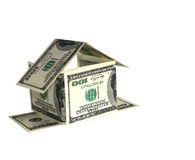 Dollar house concept Royalty Free Stock Photo