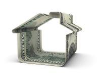 dollar house hundra en Royaltyfria Foton