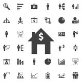 Dollar house icon. Business icons set Stock Image