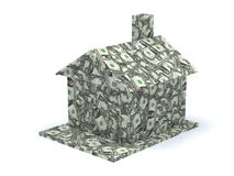 Dollar house isolated Stock Photos
