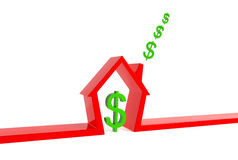 dollar house red stock illustrationer