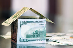 Dollar bills money house Royalty Free Stock Photo
