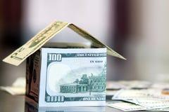 Dollar bills money house Royalty Free Stock Image