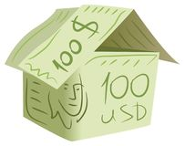 Dollar house vector Royalty Free Stock Photography