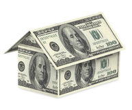 Dollar house on a white background Royalty Free Stock Images