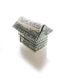 Dollar house on white Royalty Free Stock Photos
