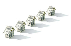 Dollar houses Stock Images