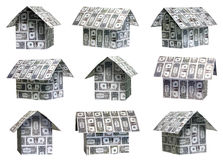 Dollar houses Royalty Free Stock Photography