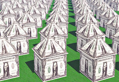Dollar houses Stock Photo