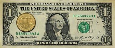 Dollar hryvnia Stockbilder