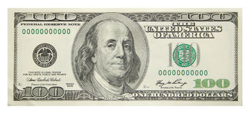 dollar hundra Royaltyfri Foto