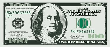 dollar hundra en stock illustrationer