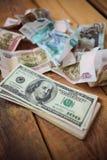 dollar hundra en Arkivbild