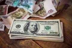 dollar hundra en Royaltyfria Bilder