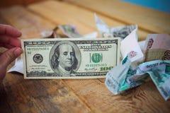 dollar hundra en Fotografering för Bildbyråer