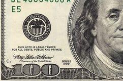 dollar hundra en bunt Royaltyfri Fotografi