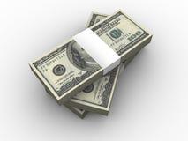 dollar hundra en bunt Arkivbild
