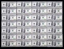 dollar hundra en oss arkivfoto
