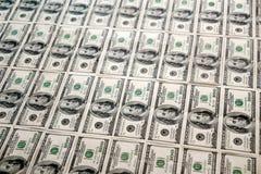 dollar hundra för 100 bills Arkivfoton