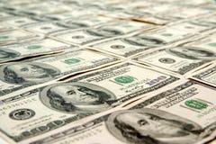 dollar hundra för 100 bills Arkivbilder