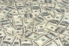 dollar hundra stapel Arkivbild