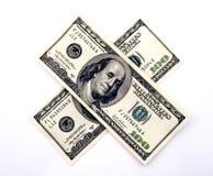 dollar hundra två Arkivbild