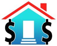 dollar hus vektor illustrationer