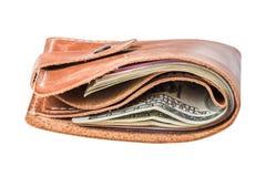 Dollar i handväska Royaltyfria Foton