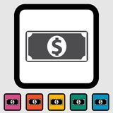 Dollar icon Stock Photography