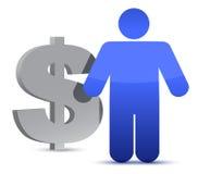 Dollar and icon Stock Photos