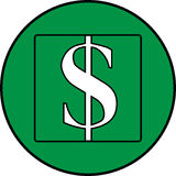 Dollar icon. Dollar currency icon, money, financial operations Stock Photos