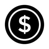 Dollar icon. Dollar glyph flat  icon Stock Illustration