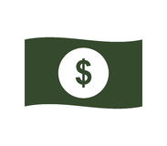 Dollar icon illustrated. On a white background Stock Photo