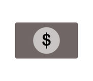 Dollar icon illustrated. On a white background Stock Images