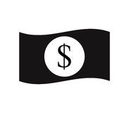 Dollar icon illustrated. On a white background Royalty Free Stock Images