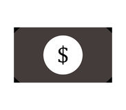 Dollar icon illustrated. On a white background Royalty Free Stock Photo