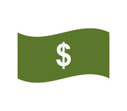 Dollar icon illustrated. On a white background Stock Image