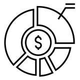 Asset allocation Solid illustration royalty free illustration